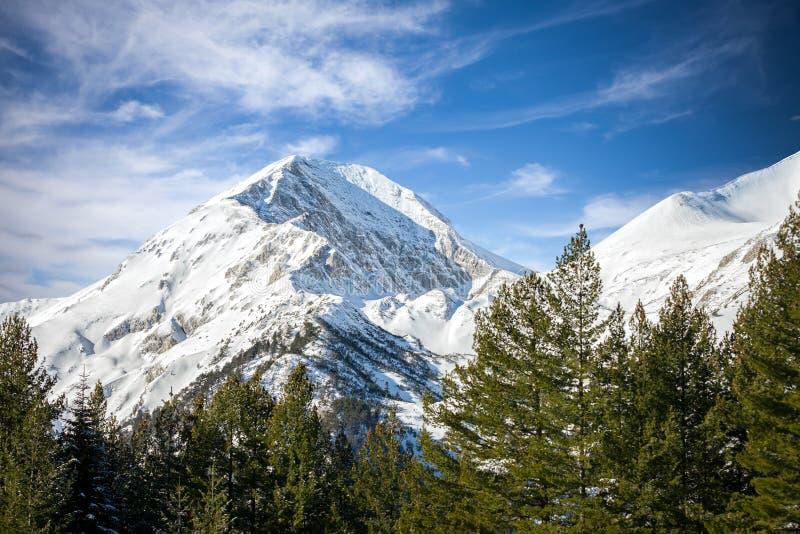 Горы зимы стоковое изображение