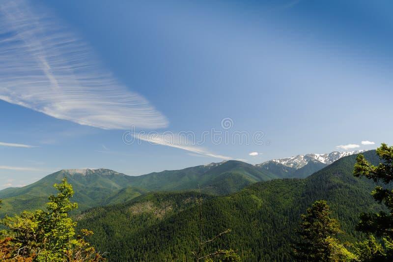 Горы и ледники Huricane Риджа стоковая фотография rf