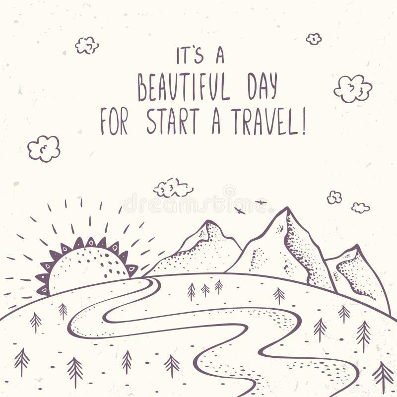 Горы и путешествовать бесплатная иллюстрация
