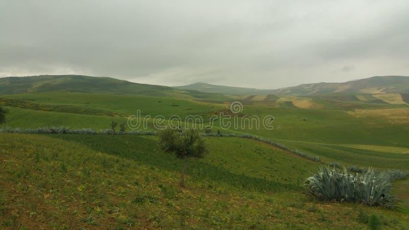 Горы и fes региона городка, Марокко стоковое фото