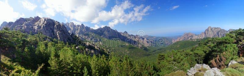 Горы Корсики стоковая фотография rf