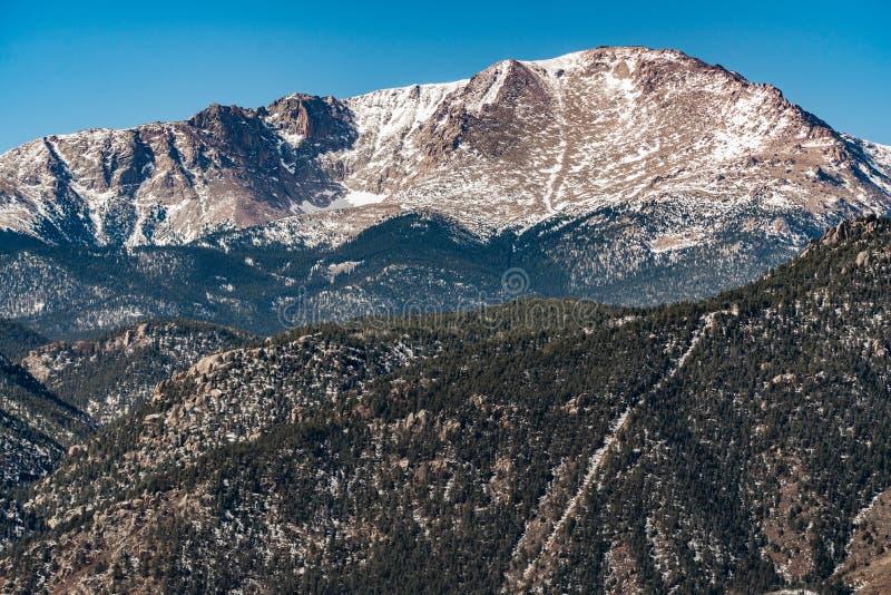 Горы Колорадо щук пиковые скалистые стоковое фото