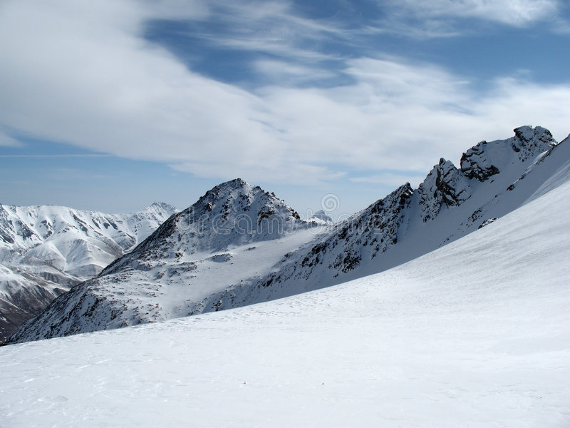 горы ландшафта caucasus стоковое изображение