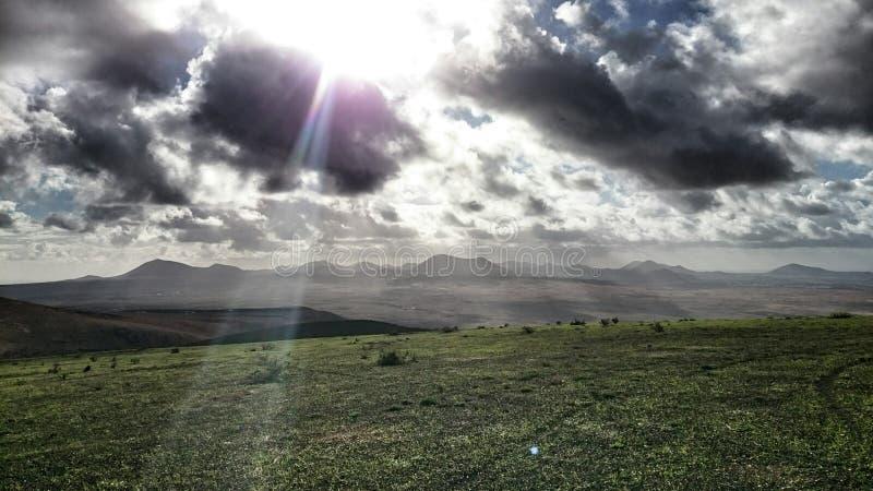 горы Лансароте стоковая фотография