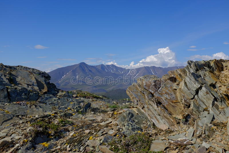 Горы национального парка Ivvavik стоковое фото rf