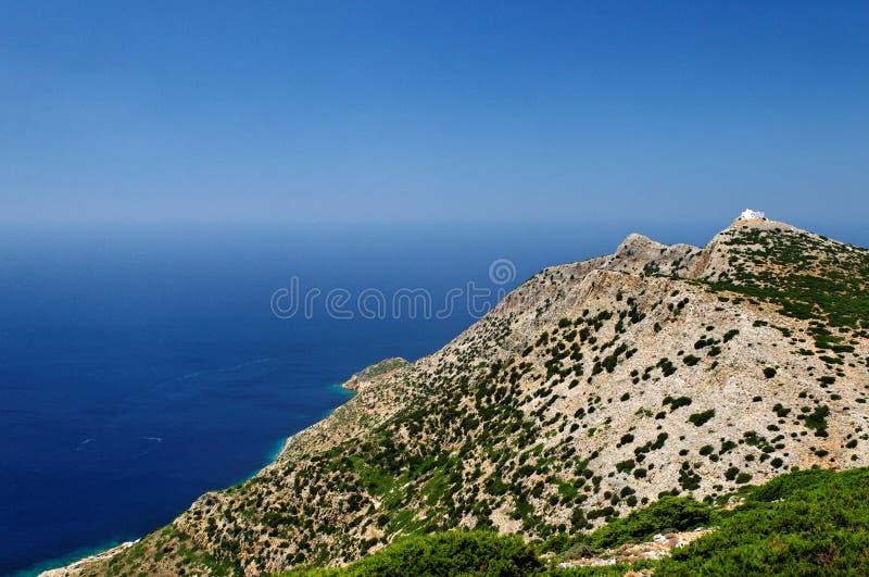 Горы на греческом острове Стоковое Изображение RF