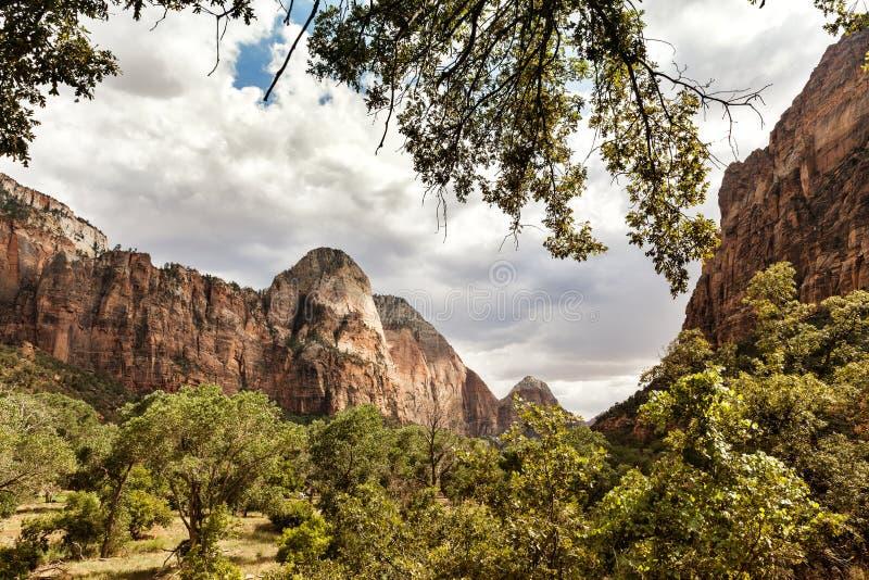 Горы на Сионе, США стоковые изображения