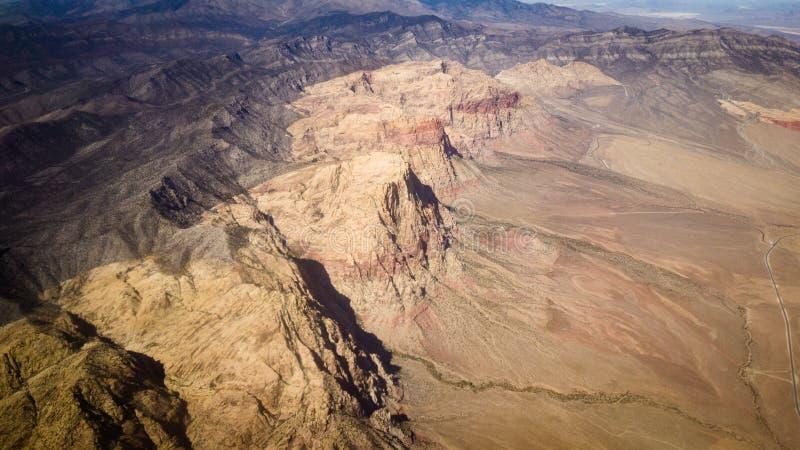 Горы Невады от воздуха стоковое фото rf