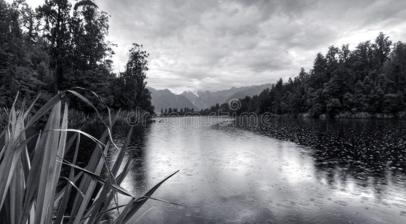 горы Новая Зеландия matheson озера стоковые изображения rf