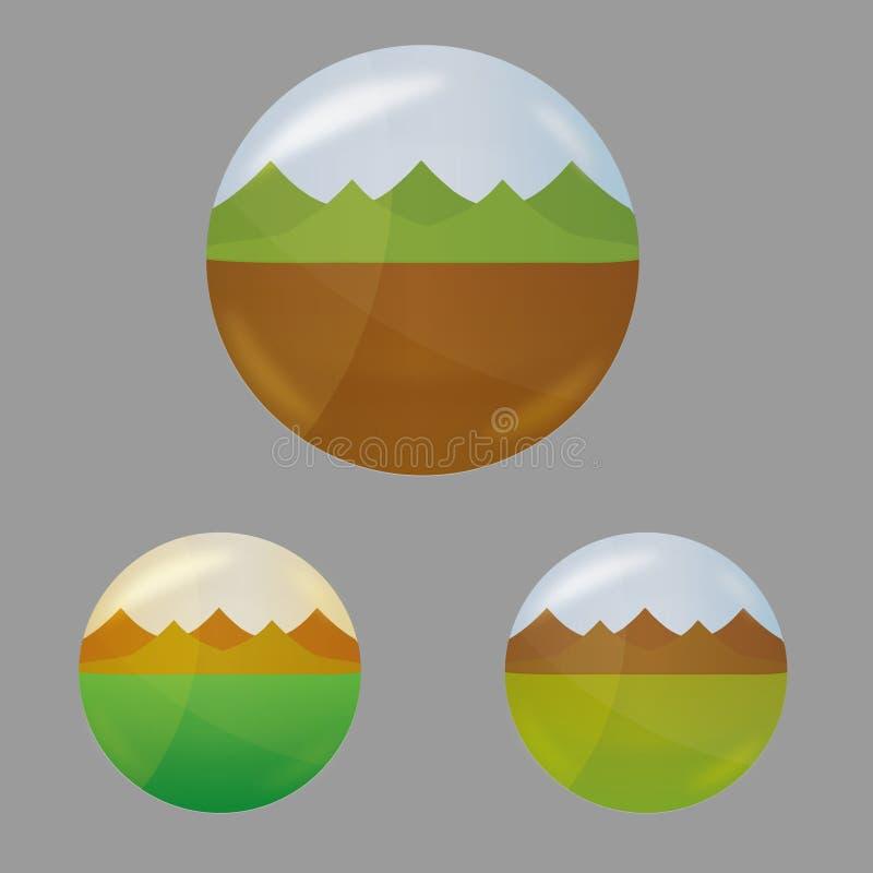 Горы логотипа природы стоковое изображение rf