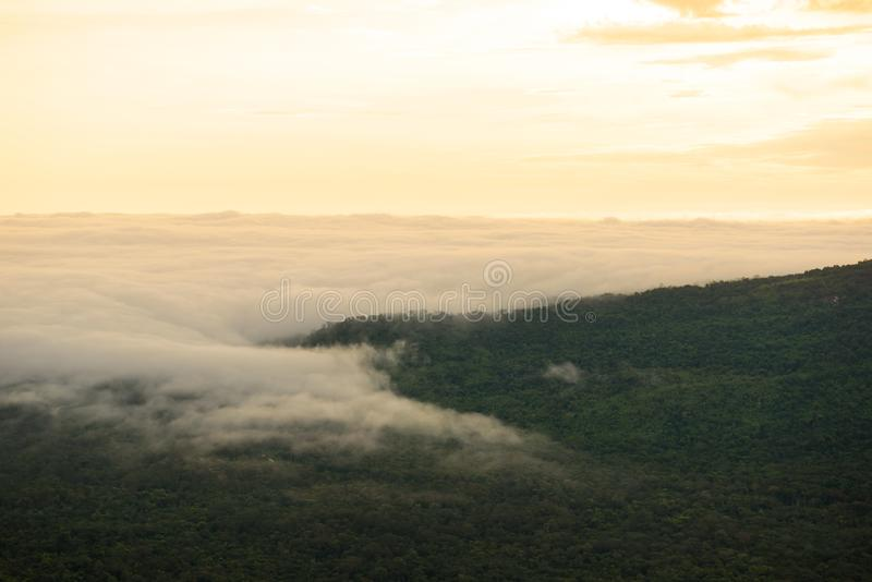 Горы пелены тумана стоковые фотографии rf
