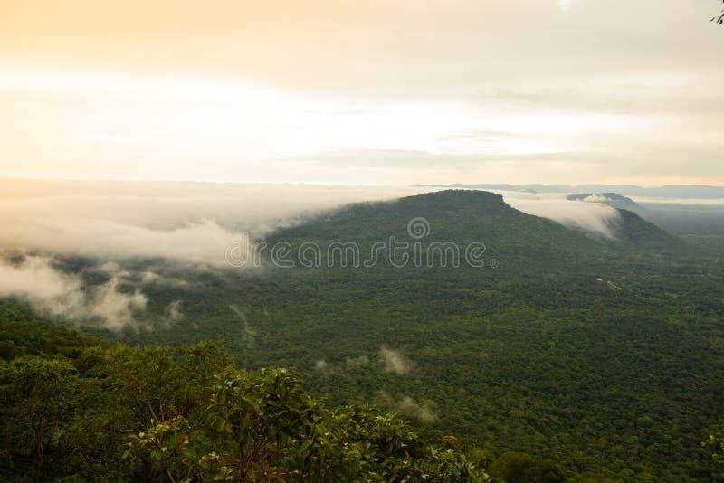 Горы пелены тумана стоковое изображение rf
