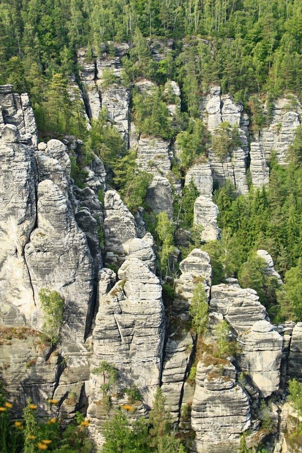 Горы песчаника Elbe стоковая фотография rf