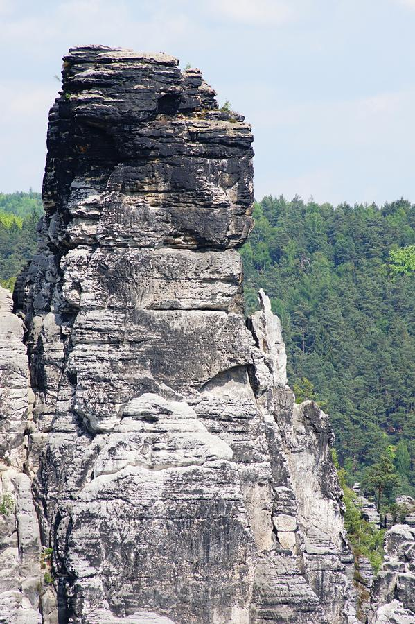 Горы песчаника Elbe стоковые изображения