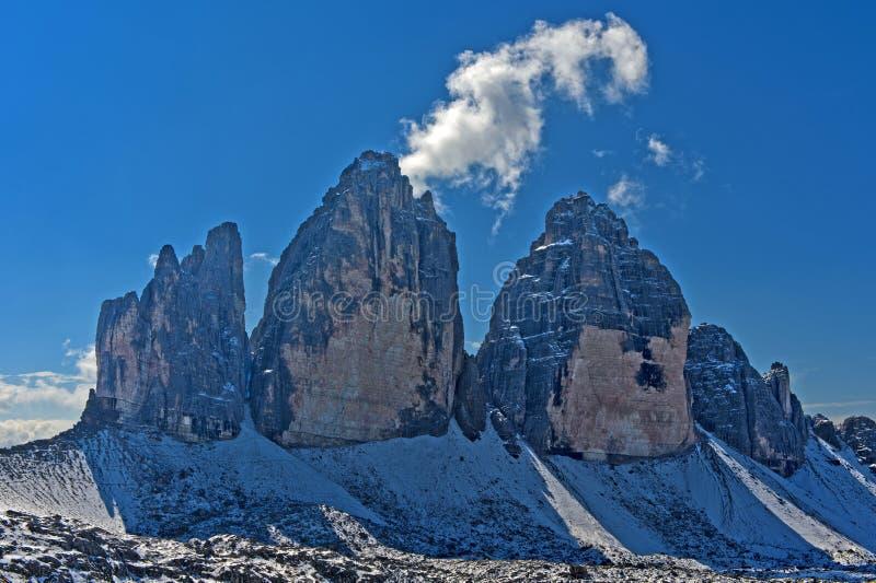 3 горы пиков стоковые фото