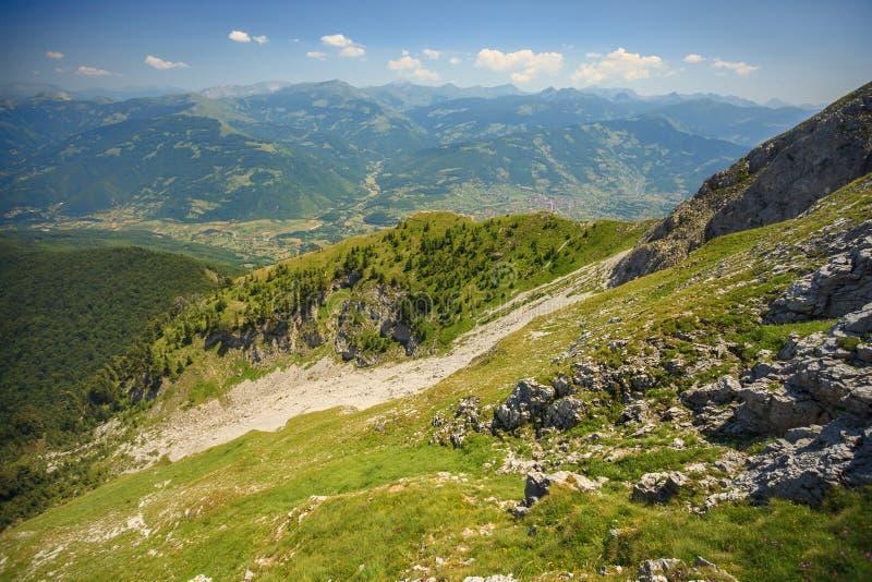 Горы посетителя стоковая фотография