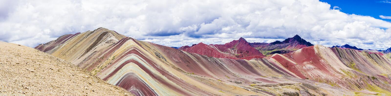 Горы радуги Перу стоковое изображение rf