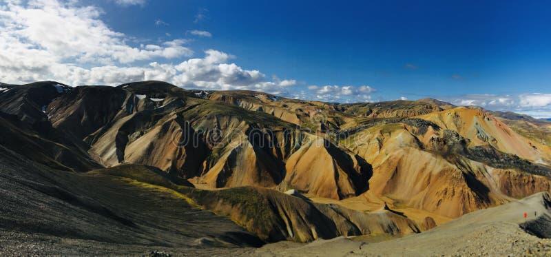 Горы радуги Landmannalaugar в Исландии стоковая фотография rf