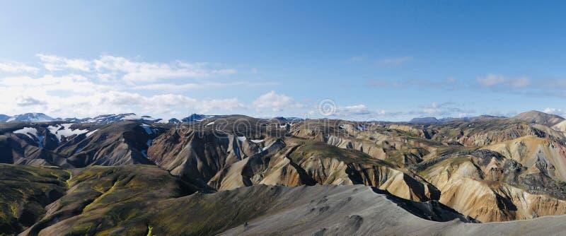 Горы радуги Landmannalaugar в Исландии стоковые фотографии rf
