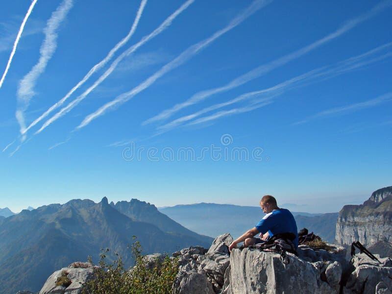 горы раздумья стоковое изображение rf
