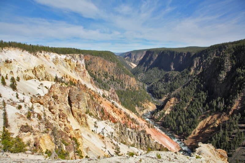 Горы, река и древесина стоковая фотография rf