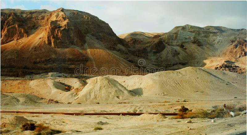 Горы Синай, Qumran выдалбливают Израиль стоковое фото rf
