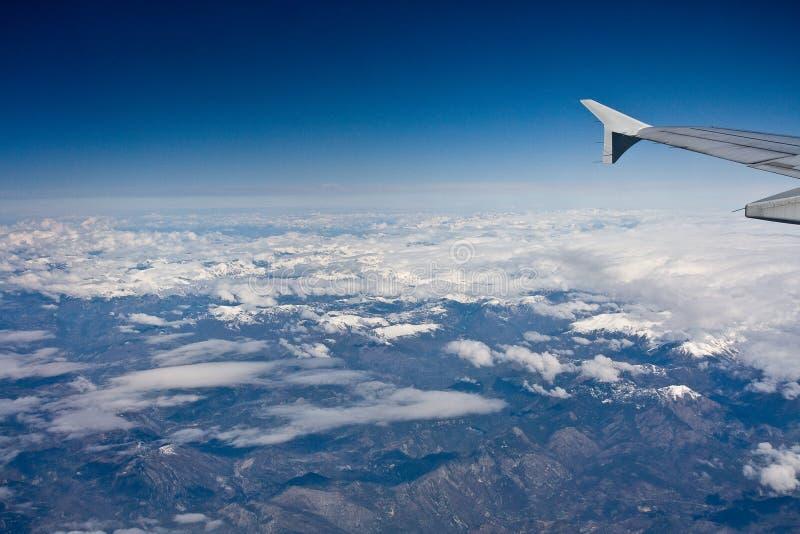Горы сьерра-невады от воздуха стоковые фото