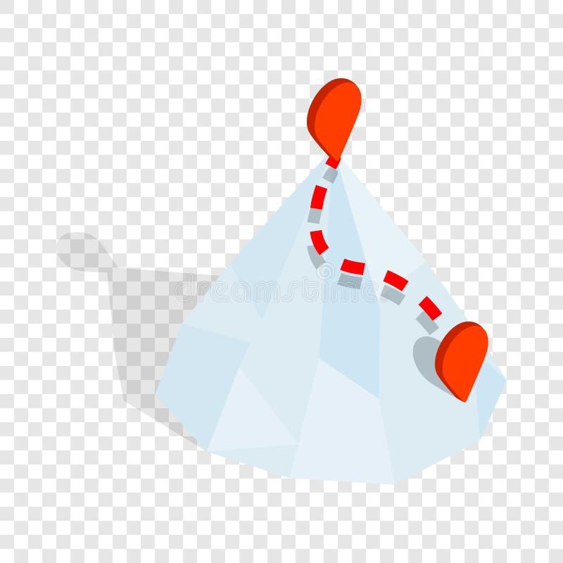 Горы с значком штыря gps равновеликим иллюстрация штока