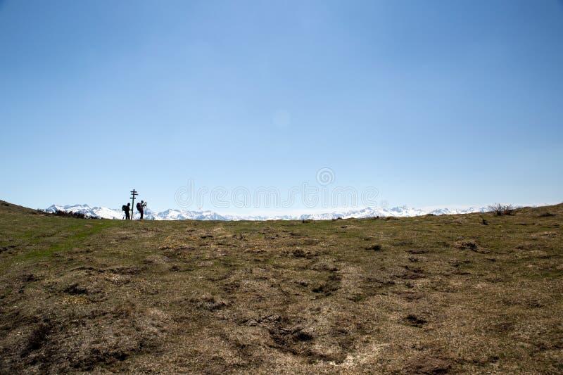 Горы француза Пиренеи между Ascou и Camurac стоковое фото