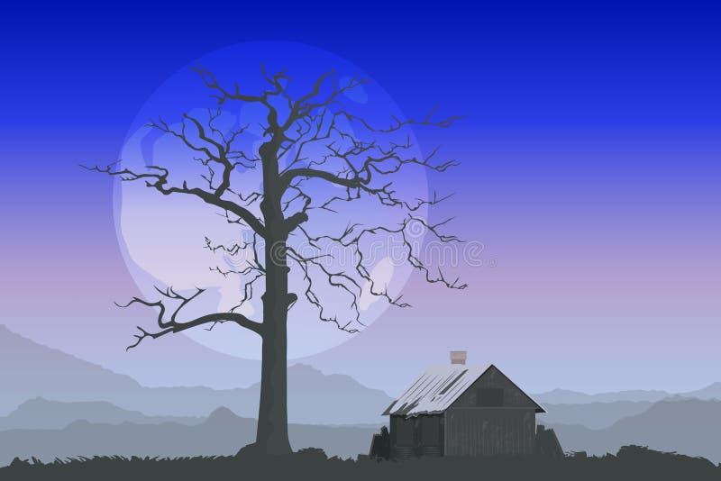 горы хаты бесплатная иллюстрация