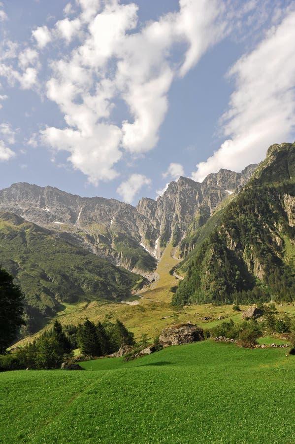 горы швейцарские стоковая фотография rf