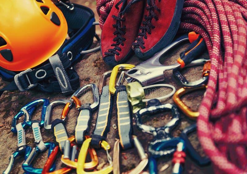 горы льда оборудования оси взбираясь стоковые фотографии rf