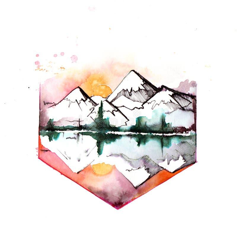 Горы бесплатная иллюстрация