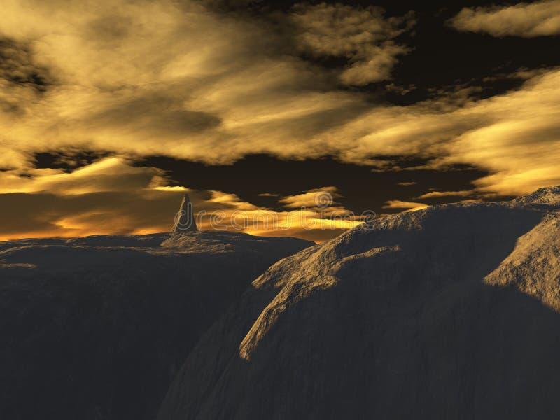 Download горы иллюстрация штока. иллюстрации насчитывающей небо - 490096