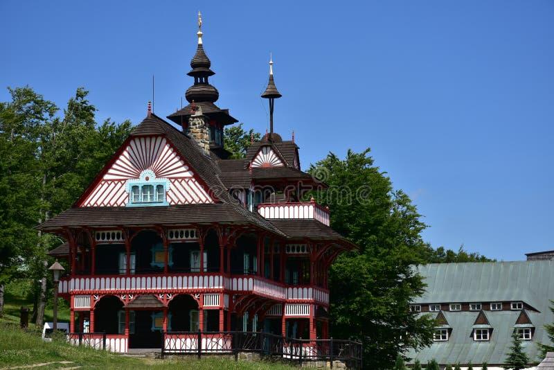 Горы Beskydy в чехии, месте каникул Radhost стоковое фото