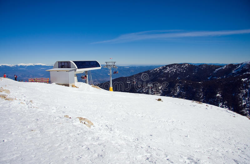 горы chairlift снежные стоковое фото rf