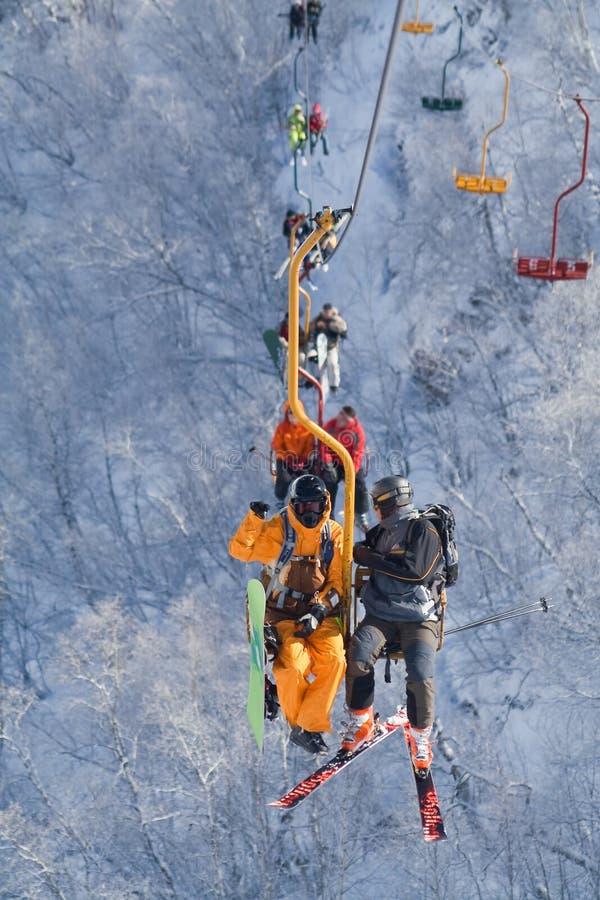 горы chairlift стоковое фото