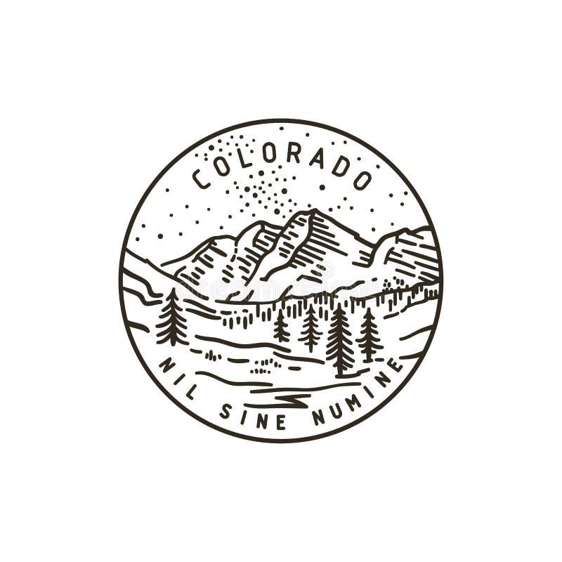 горы colorado Национальный парк иллюстрация штока