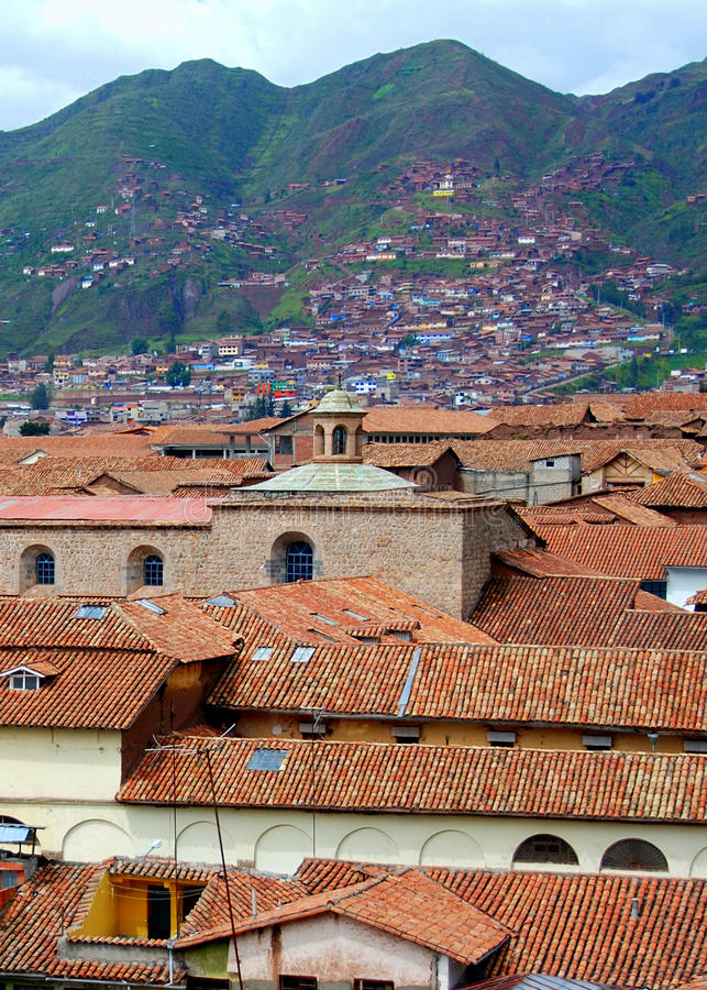 горы cuzco города стоковая фотография rf