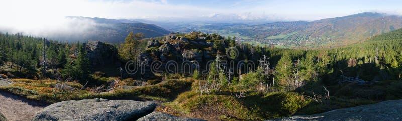 Горы Jizera, чехия стоковая фотография rf