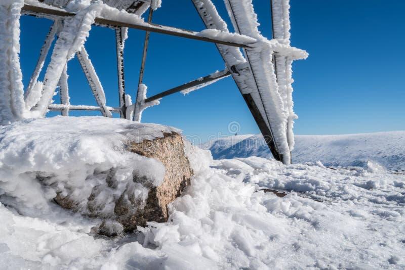 Горы Karkonosze в зиме стоковое фото