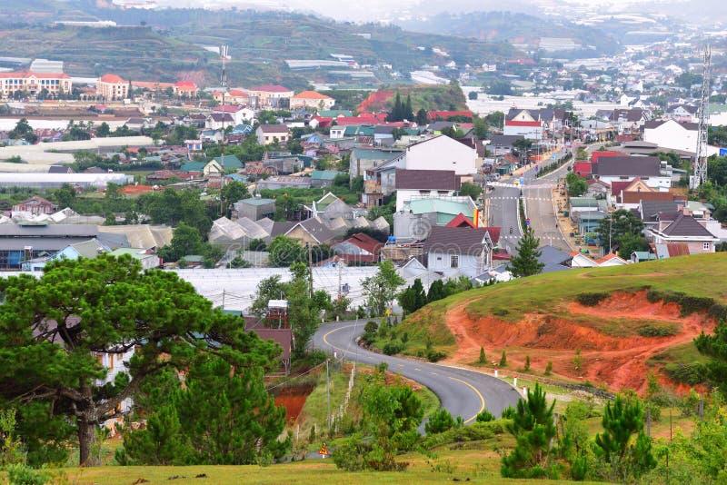 Горы Lang Biang или крыша города dalat стоковые фотографии rf