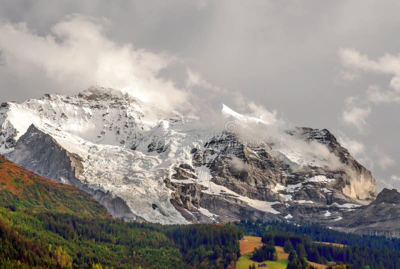 Горы Murren стоковая фотография