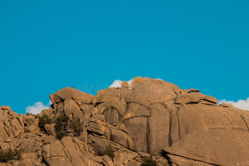 Горы Pedriza в Сьерре de Guadarrama, Мадриде Испании mounta стоковое изображение rf