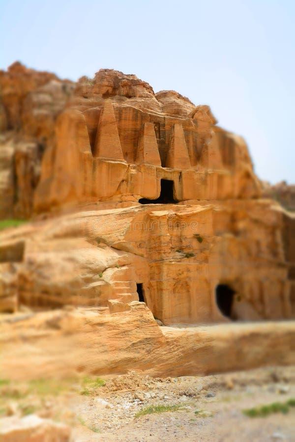 Горы Petra, Джордан, Ближний Восток стоковые изображения