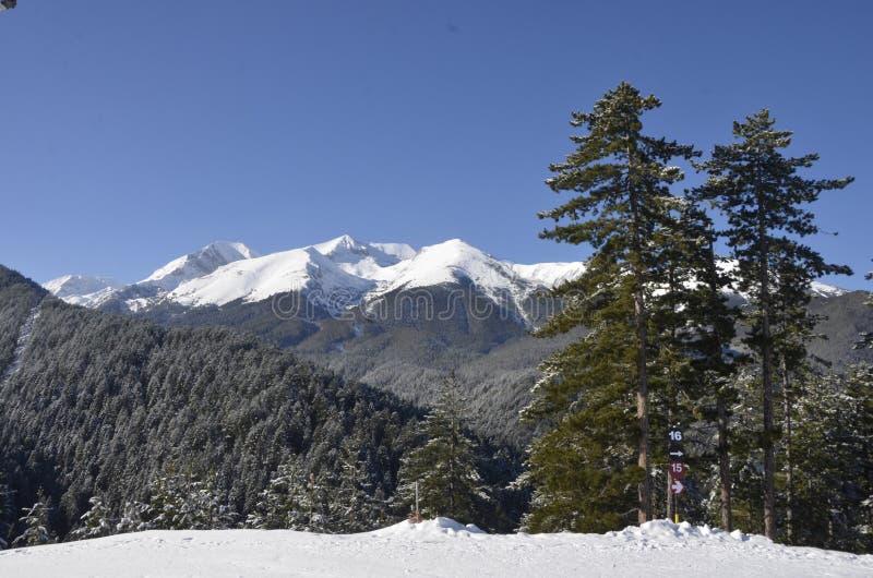 Горы Pirin в лыжном курорте Bansko bulbed стоковая фотография