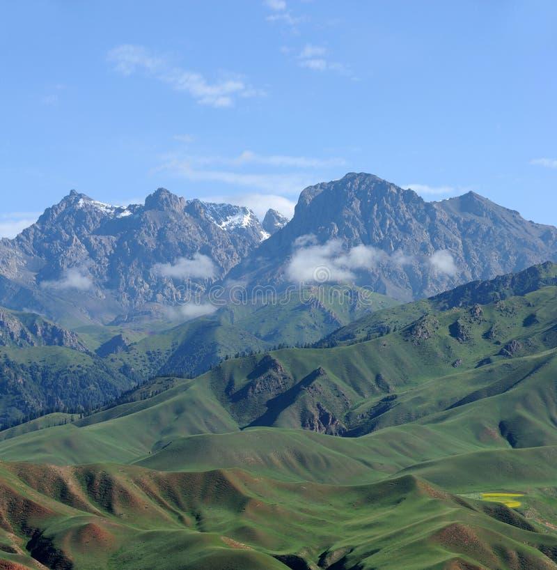 Горы Qilian стоковая фотография rf