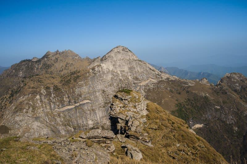 Горы Qinling стоковое изображение rf