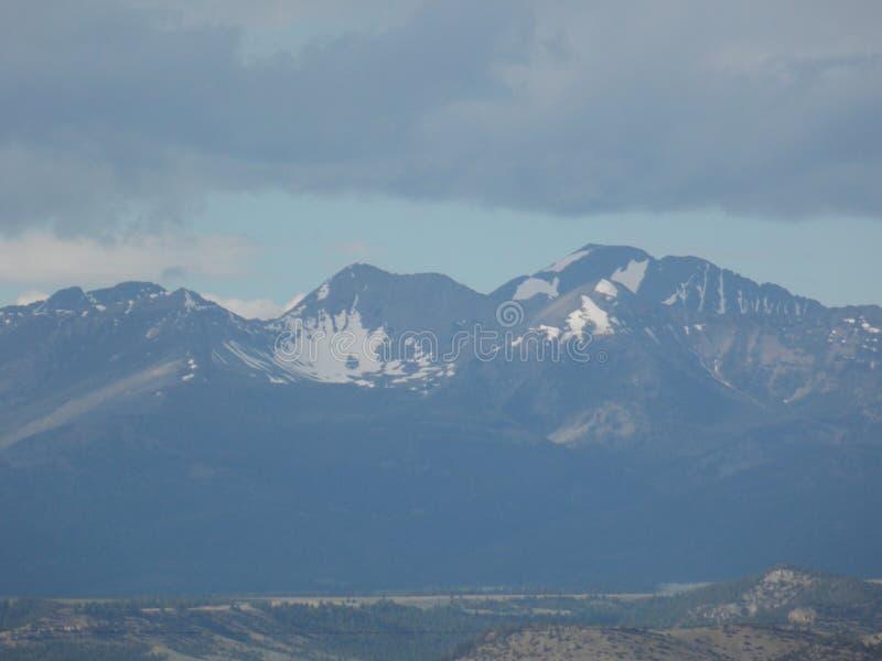 горы snowcapped стоковая фотография rf