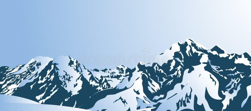 Горы Snowy в утре бесплатная иллюстрация